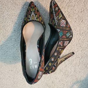 Multi-Color Pumps Stiletto Heels